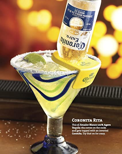 Coronita Rita Corona Bottle Holder Holds a Beer In Your Margarita Glass Yellow Version