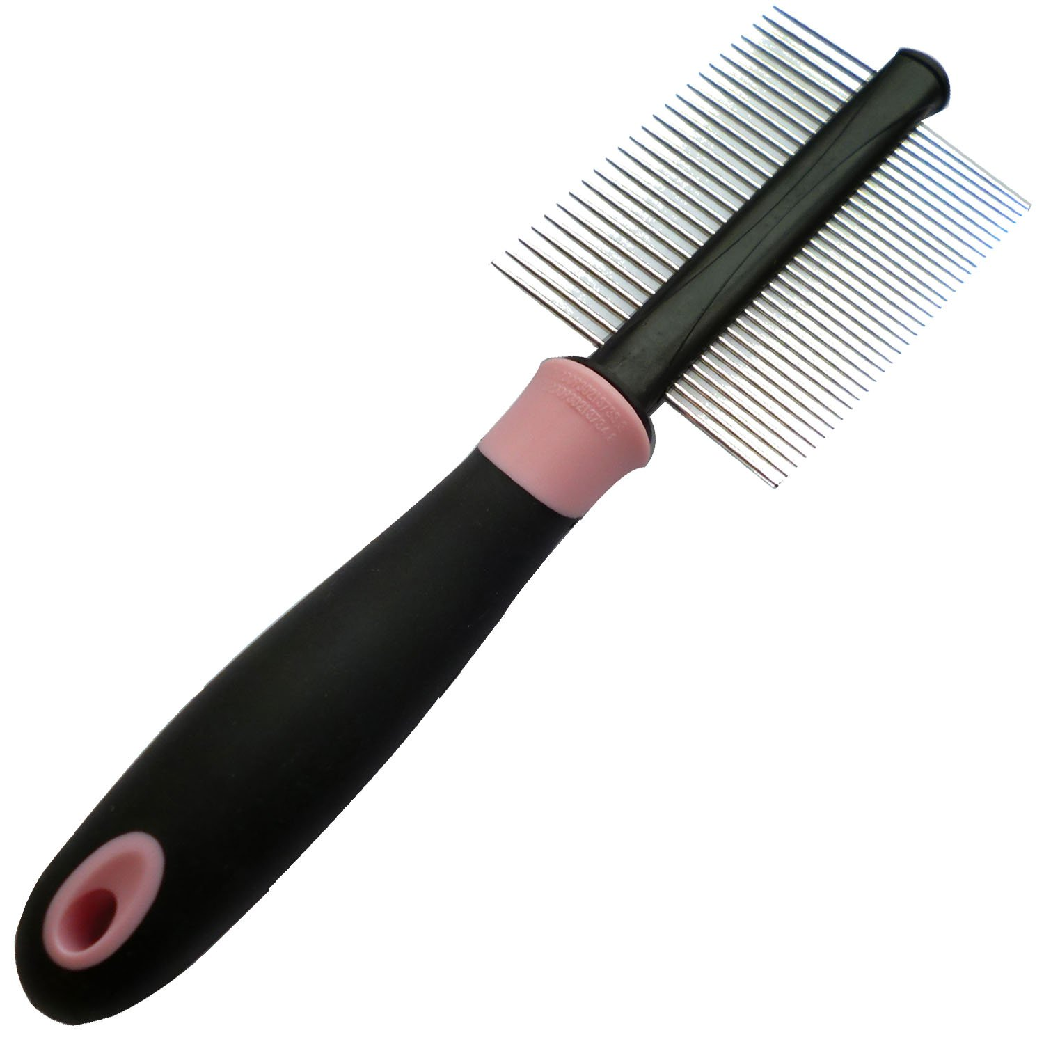 Iconic Pet Double Sided Pin Comb, Pink