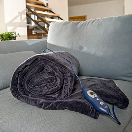 Solac CT8600 - Manta eléctrica Reikiavik, 160 W, 6 niveles de temperatura, reversible, tejido extra suave, Tecnología Sensfort, autoapagado, ...