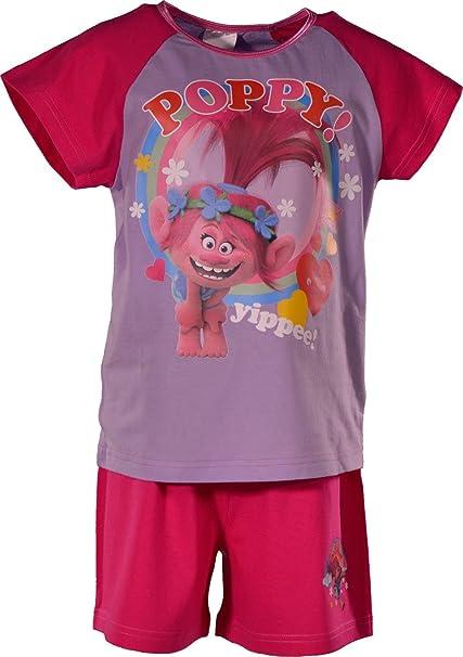 Trolls - Pijama - para niña rosa rosa