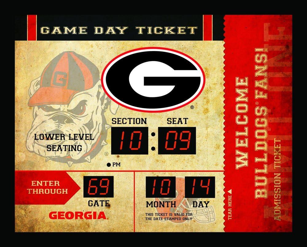 Team Sports America NCAA Bluetooth Scoreboard Wall Clock, Georgia Bulldogs