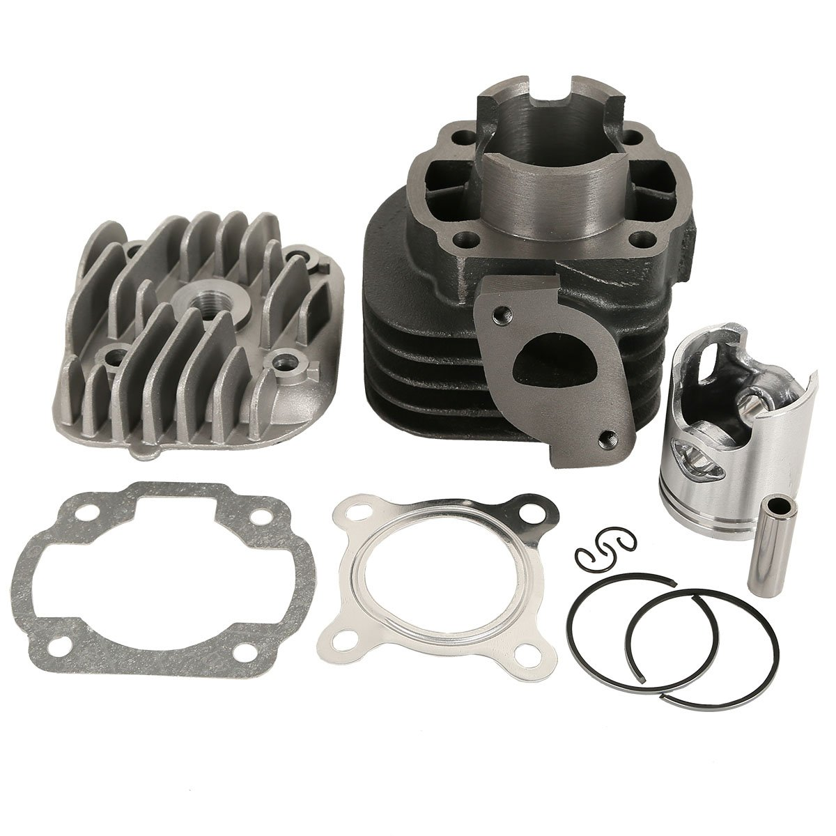 XFMT Cylinder Piston Top End Kit For Polaris Scrambler 50 01-03 Predator 50 04-07 ATV