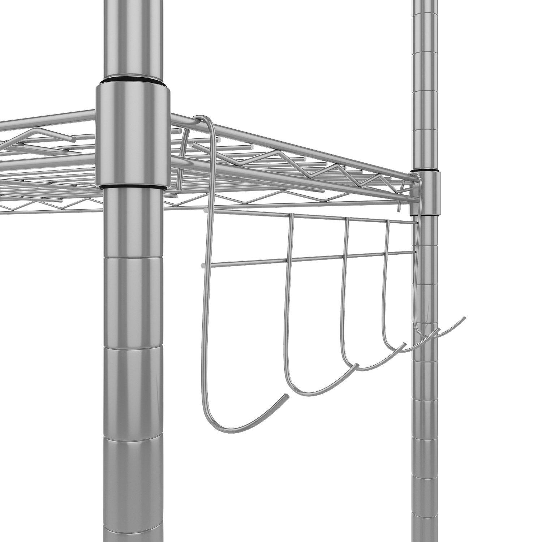 Homdox Regal Standregal Metallregal Mit 5 Regalböden Für