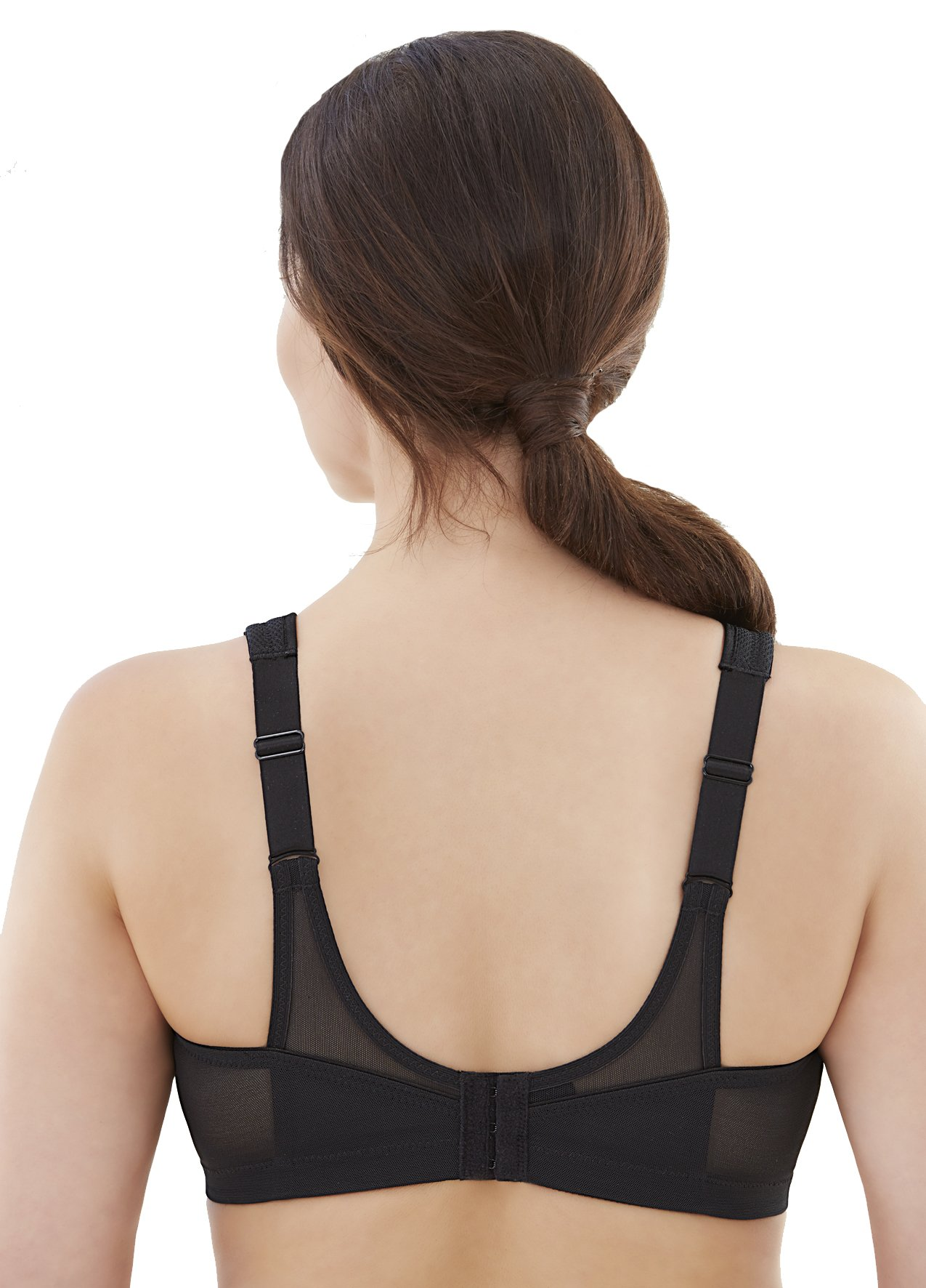Glamorise Women's Full-Figure Sports Bra, Black, 34DD by Glamorise (Image #2)