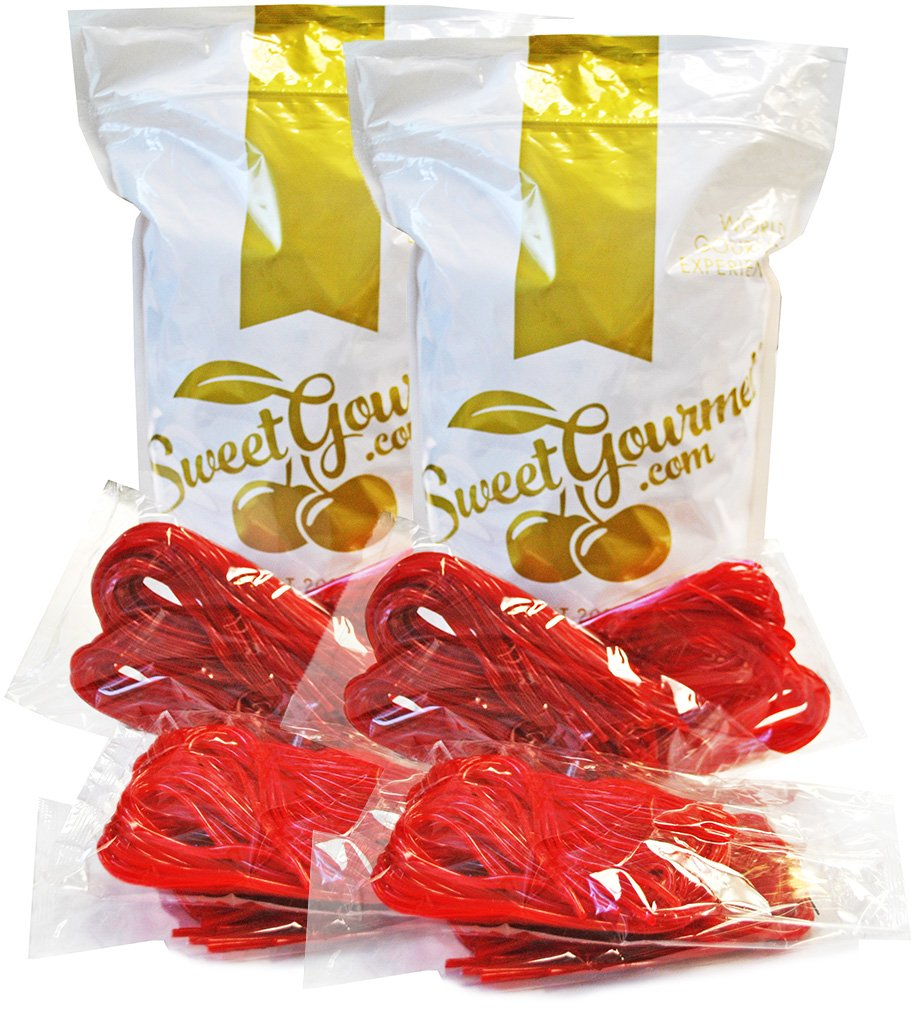 SweetGourmet Kenny's Strawberry Licorice Laces, 5.5 Oz (Pack of 26)