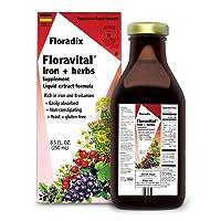 Floravital Liquid Iron Supplement + Herbs 8.5 Ounce - Vegan, Non GMO & Gluten Free...