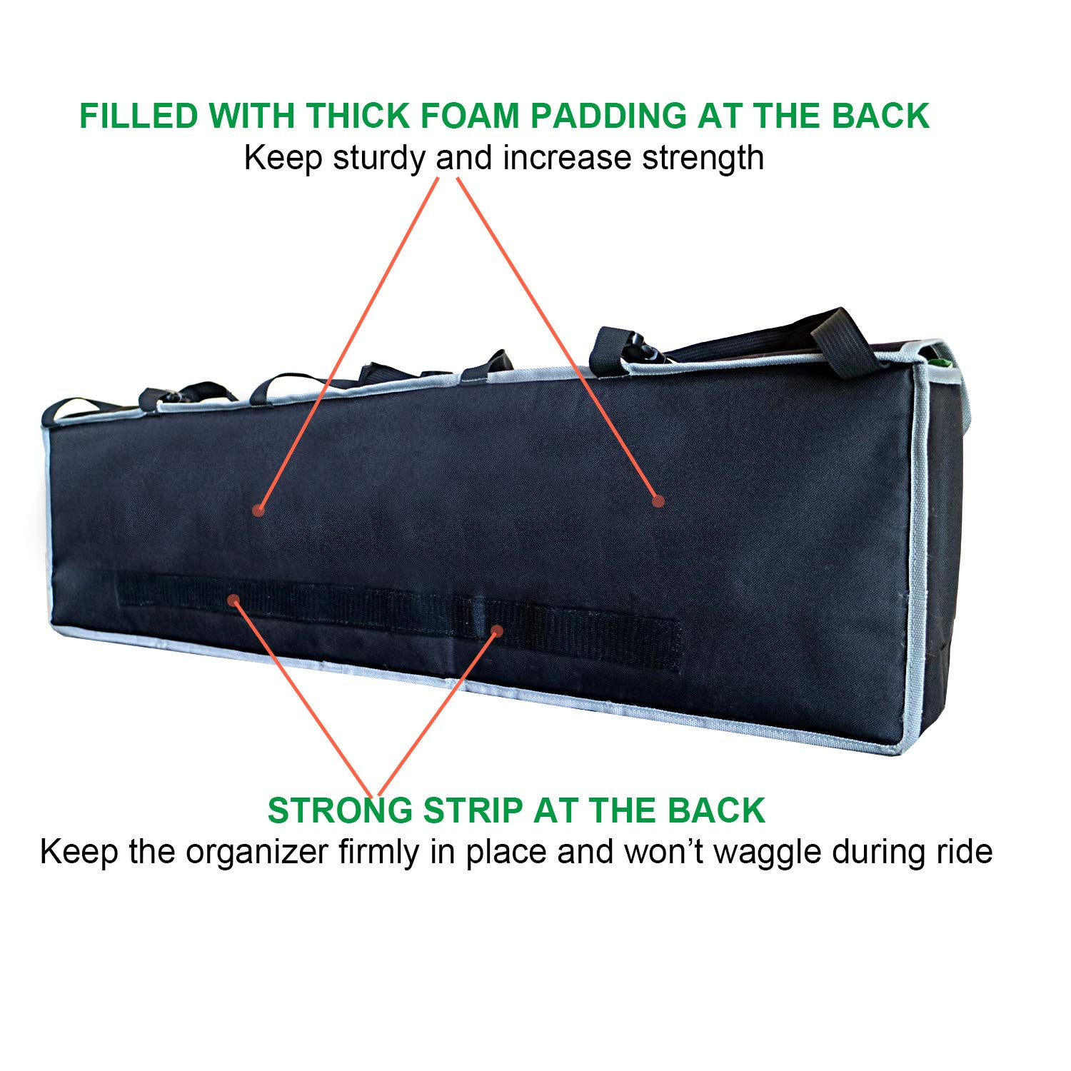 PIDO Backseat Trunk Organizer, Auto Hanging Seat Back Storage Organizer for SUV and Many Vehicles – Free Your Trunk Space by PIDO (Image #5)
