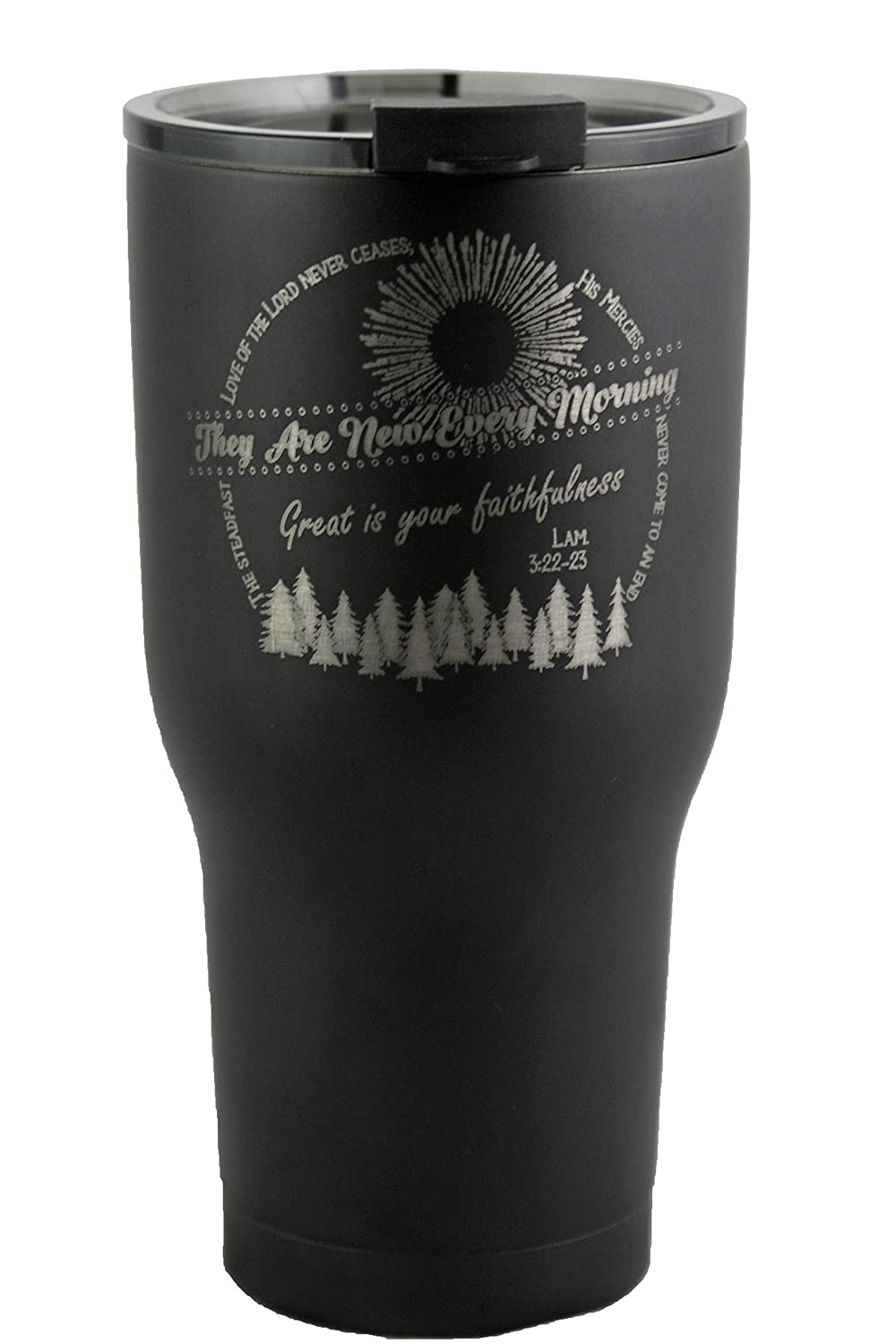 Teal, 20oz Lamentations Engraved Travel Insulated Tumbler
