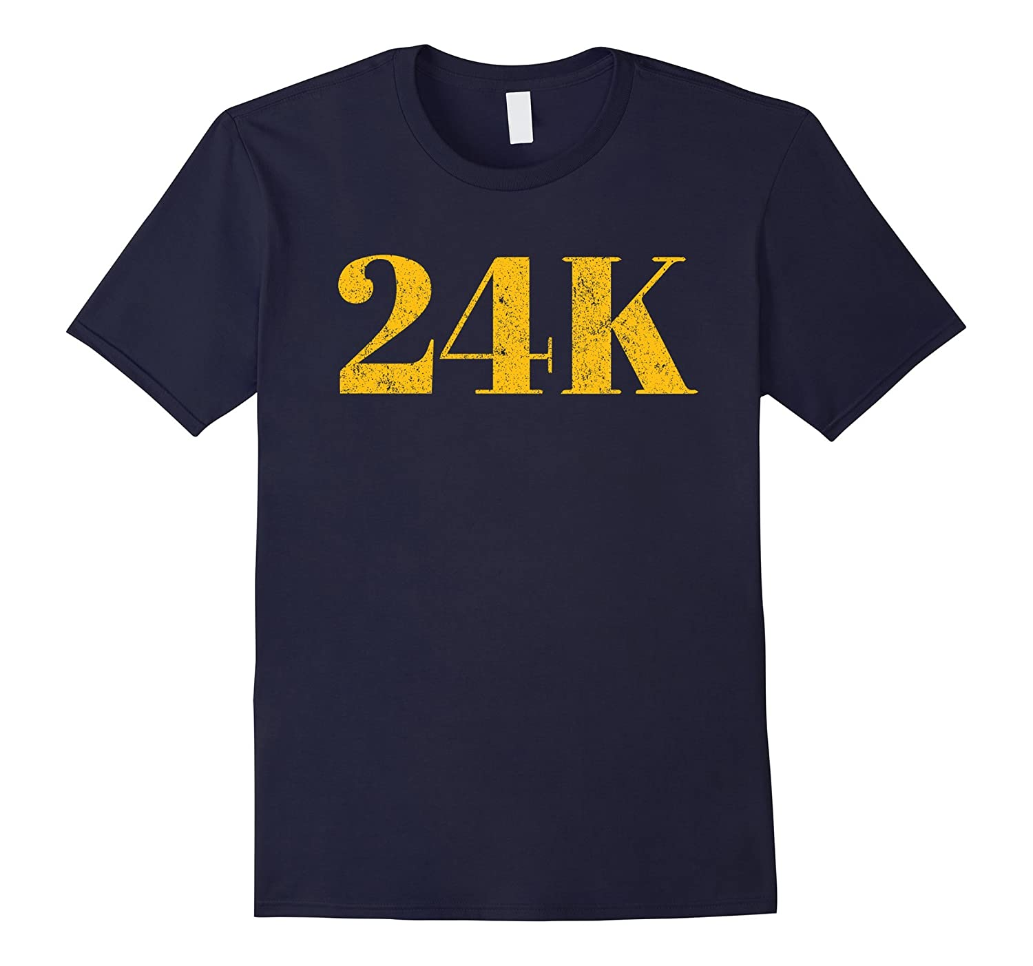 24K T shirt | Distressed Gold-TH