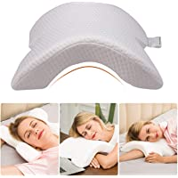Ezonedeal Neck Pillow for Sleeping Memory Foam Pillow, No Pressure - Side Sleeping, Office Rest Pillow, Sofa Casual Reading Pillows