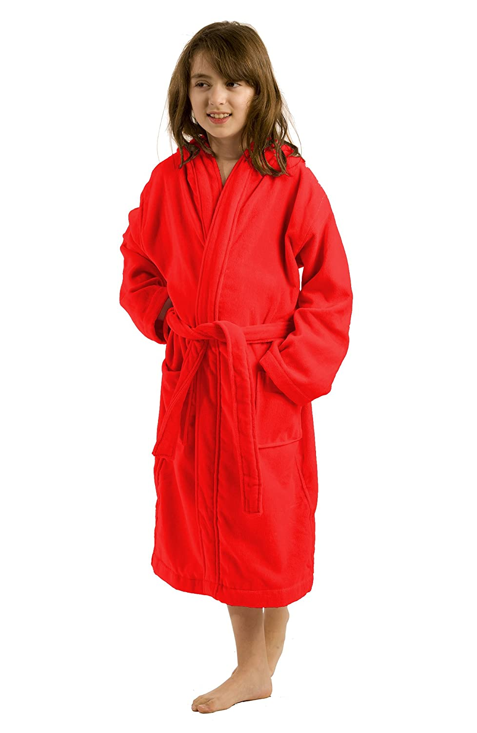 byLora, Terry Cloth Hooded Boys and Girls Robe, 100% Cotton Kids Bathrobe