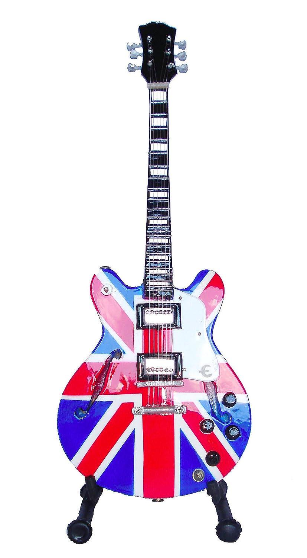 Guitarra eléctrica Blues Supernova de ferrocarril - Madera barnizado - Objeto de decoración - regalo música - incluye soporte: Amazon.es: Hogar
