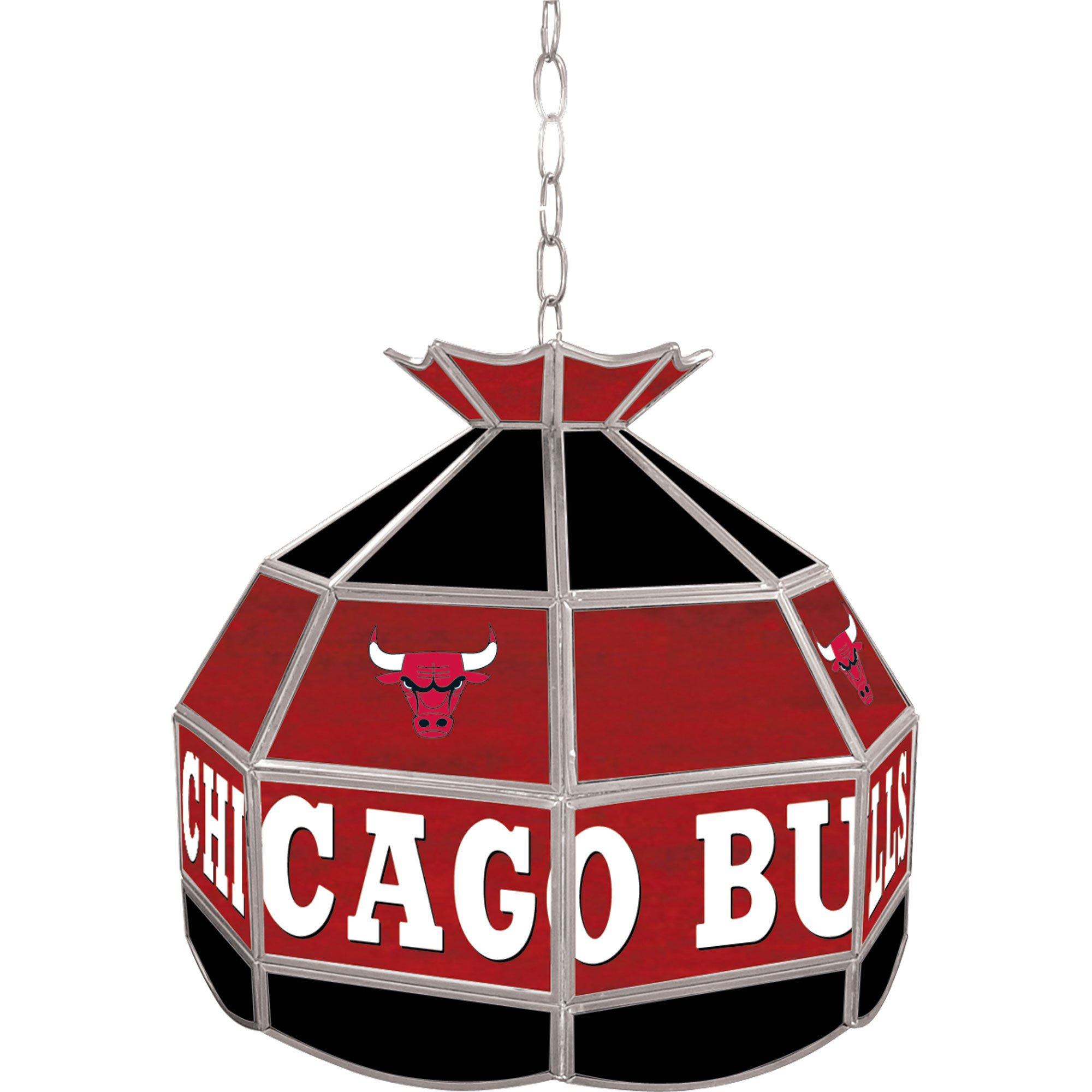 NBA Chicago Bulls Tiffany Gameroom Lamp, 16'' by Trademark Gameroom