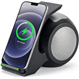 Fast Wireless Charger with Bluetooth Speaker,CENSHI Wireless Charging Stand for iPhone12,12Mini,12Por Max,11,11Pro,11Pro Max,