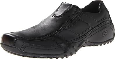Hommes Skechers Travaillent Chaussures Glissent Sur WXMX9