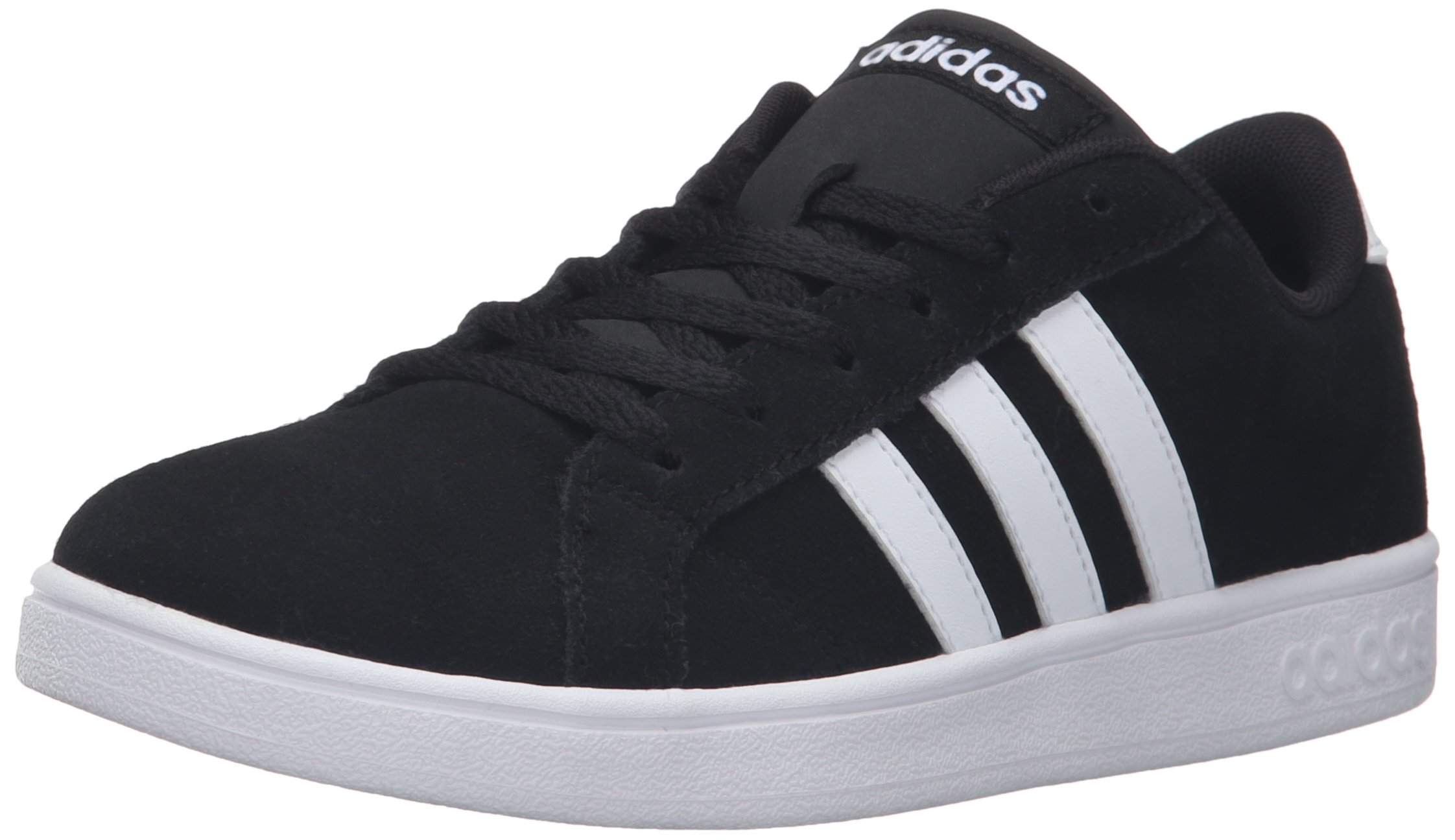 adidas NEO Boys' Baseline Sneaker, Black/White/Black, 7 M US Big Kid