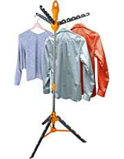 Top Home Solutions Multi Portable Folding Standing Tier Garment Clothes Shirt Hanger Dryer Airer