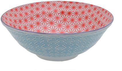Tokyo Design Studio Starwave Noodle Bowl - Wave - Red/Light Blue at Amara