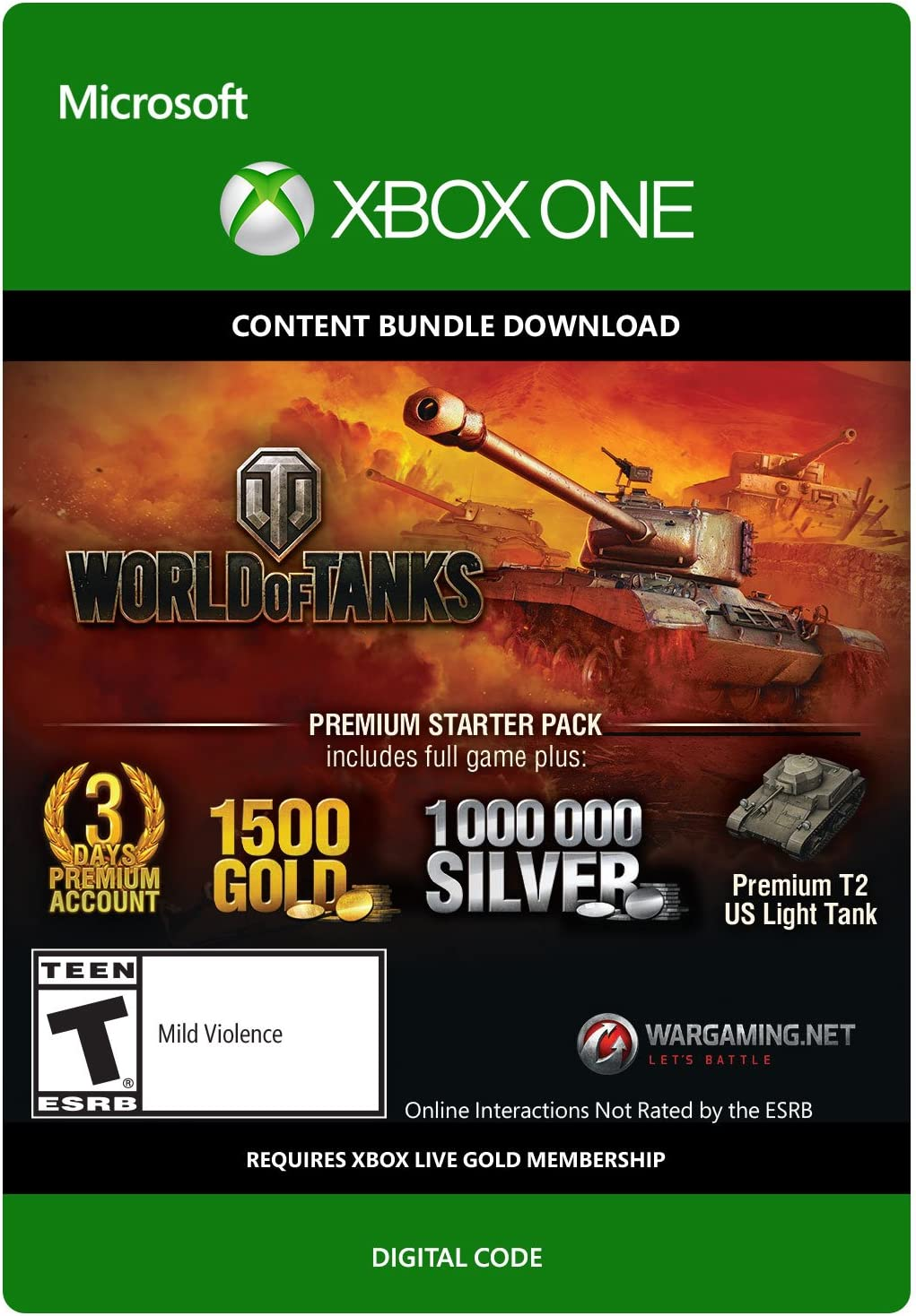 Amazon com: World of Tanks Premium Starter Pack - Xbox One Digital