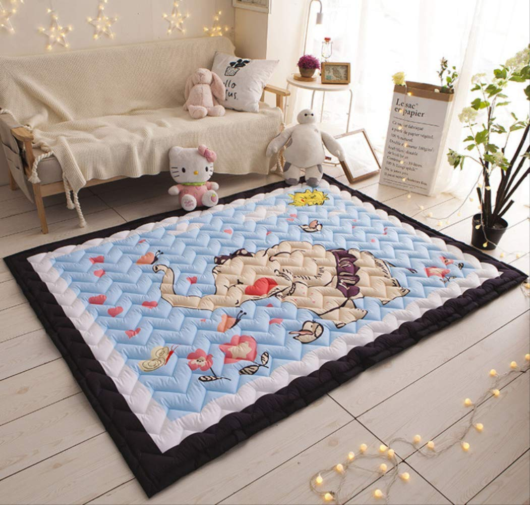 F Cartoon Creeping Mat Baby Infant Play mat Blanket Play Game Mat Room Decoration Crawling Activity Pad Carpet Floor Home Rug Gift 145  195cm1.5CM A