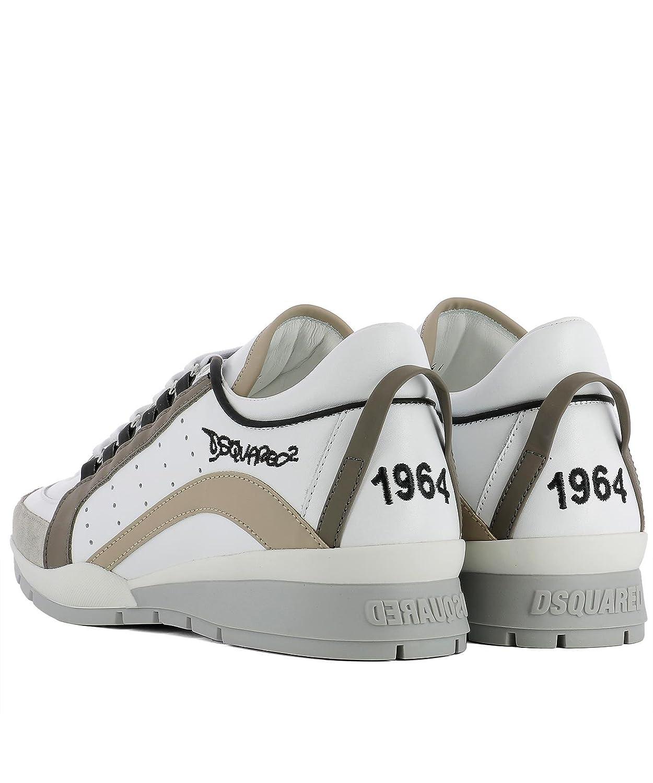 DSquared Zapatillas de Material Sintético Para Hombre Blanco Blanco, Color Blanco, Talla 44: Amazon.es: Zapatos y complementos