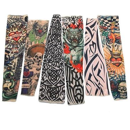 6 x mango Gemelos brazo falso tatuaje Tatoo mallas extensión Nylon ...