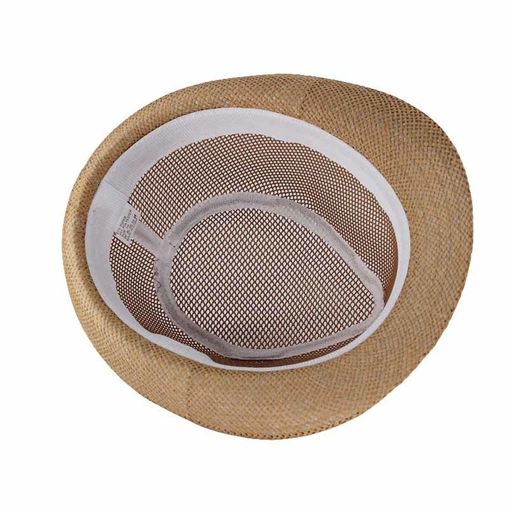 AOBRITON Summer Solid Unisex Fashion Sun Hat for Men Casual Paper Summer Hat