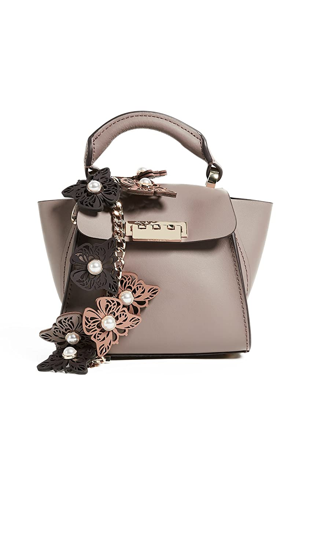 ZAC Zac Posen Women's Butterfly Applique Eartha Mini Top Handle Bag Stone One Size Zac Zac Posen-handbags