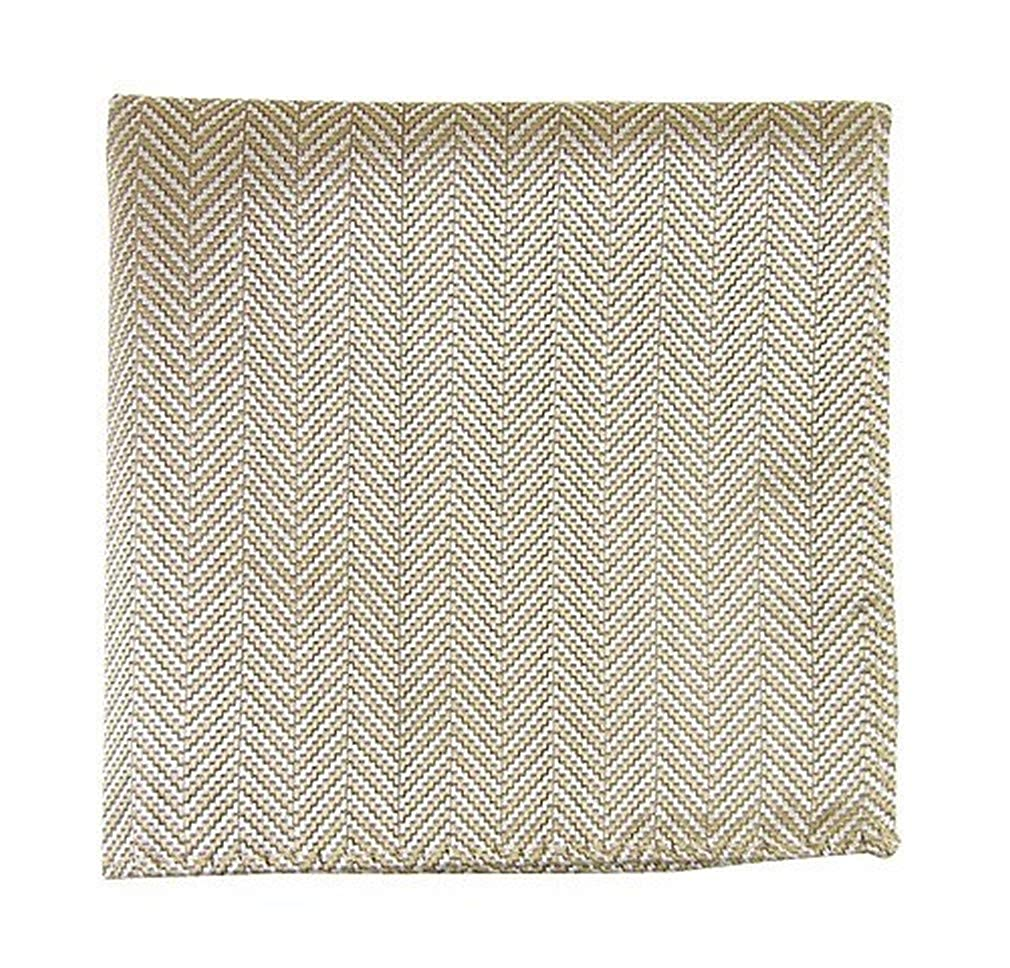 The Tie Bar Native Herringbone 100/% Woven Silk Pocket Square