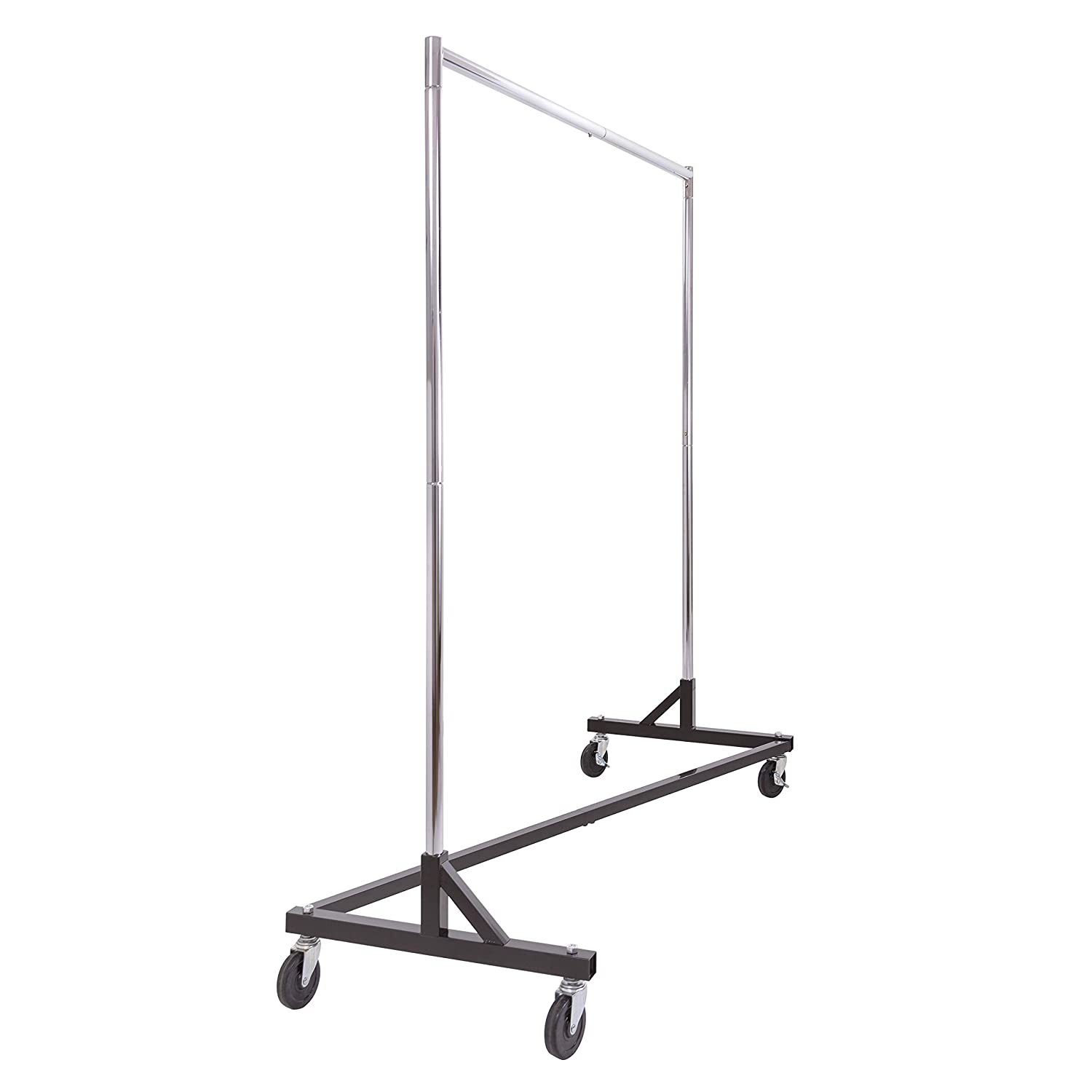 Inch-Inch Rack with KD Construction Econoco RZK//8 Square Tubing Black Base