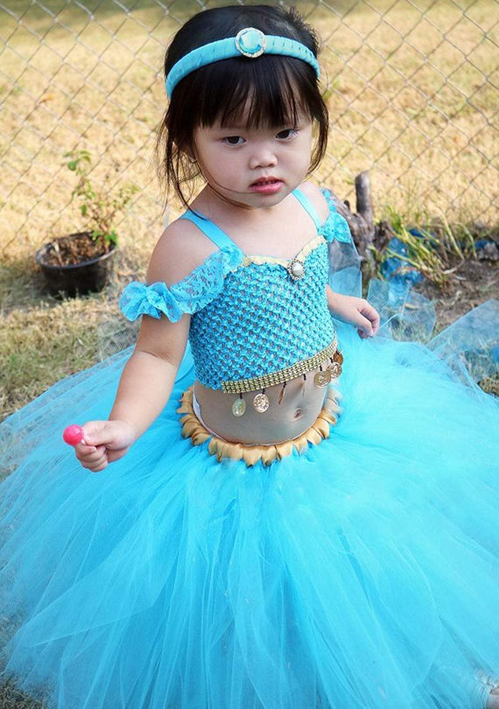Tutu Dreams 3pcs Princess Costume Dress for Girls 1-12Y Birthday Halloween Party