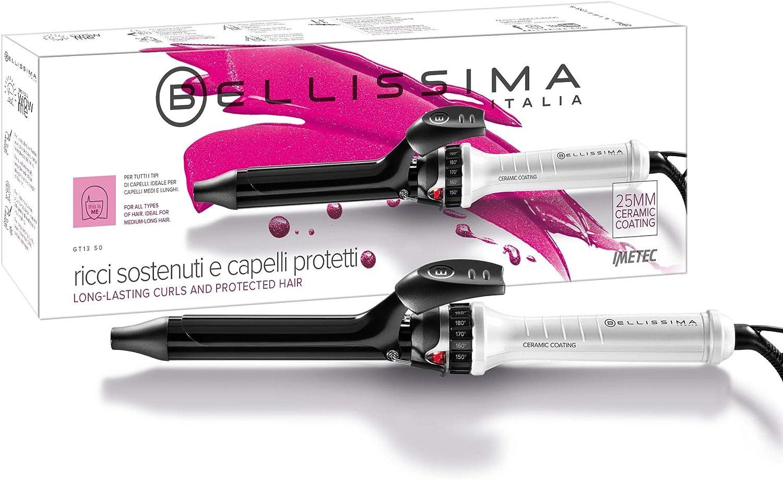 Imetec Bellissima GT13 50 Rizador de pelo, revestimiento de cerámica, 7 diferentes niveles de temperatura de 150 ºC a 210 ºC, diámetro de 25 mm, sistema de calentamiento rápido listo para usar: