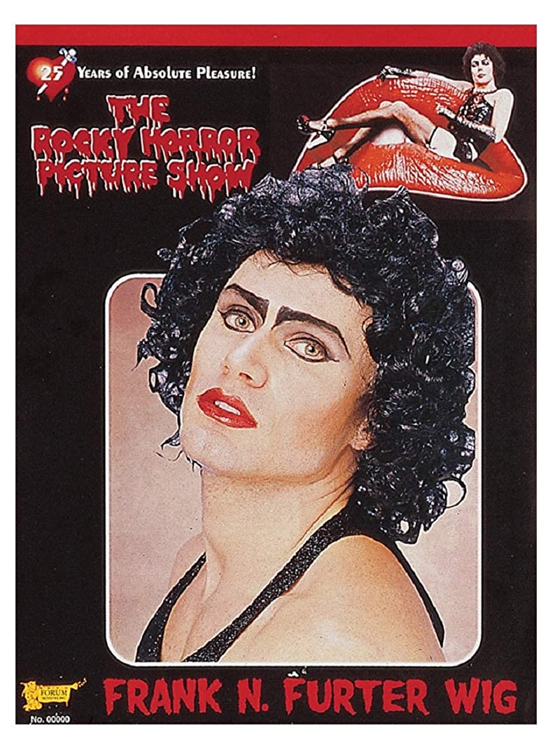 Frank N Furter Curly Black Wig The Rocky Horror Picture Show