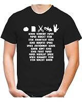 Stein, Papier, Schere, Echse, Spock T-Shirt | Kult | Fun