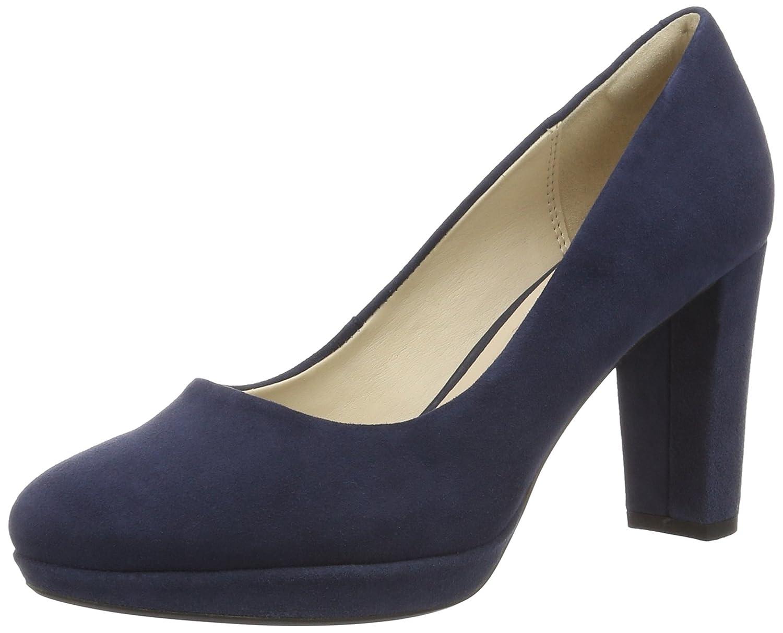 Clarks Kendra Sienna, Zapatos de Tacón para Mujer 41 EU|Azul (Navy Suede)