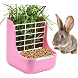 sxbest 2 in 1 Food Hay Feeder for Guinea Pig,Rabbit,Indoor Hay Feeder for Guinea Pig,Rabbit, Chinchilla,Feeder Bowls Use…