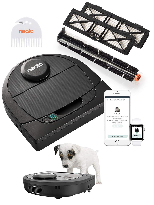 Neato Robotics D450 Premium Pet Edition - Compatibile con Alexa - Robot aspirapolvere con stazione di ricarica, Wi-Fi & App: Amazon.es: Hogar