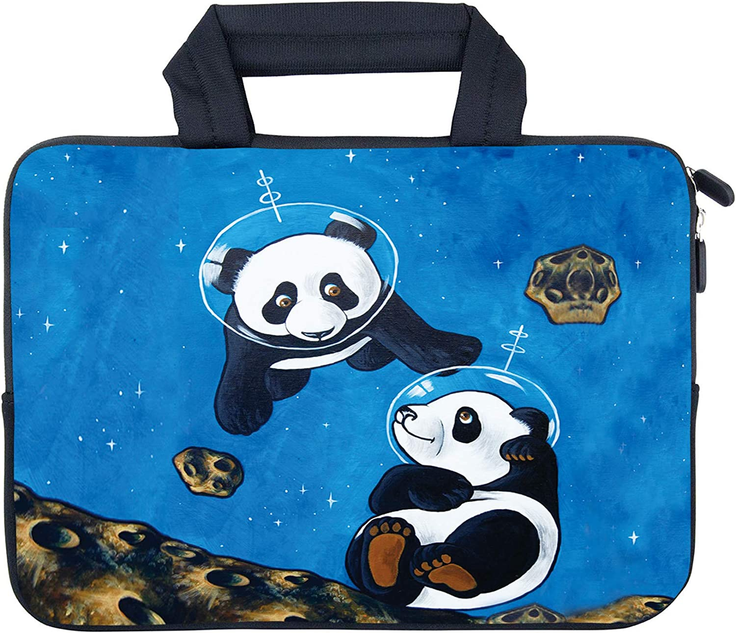 "AMARY 11.6"" 12"" 12.1"" 12.5 inch Laptop Handle Bag Neoprene Notebook Carrying Pouch Chromebook Sleeve Ultrabook Case Tablet Cover Fit Apple MacBook Air HP DELL Lenovo Asus Samsung (Panda)"