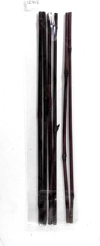 "SuperMoss (12411) Bamboo Sticks, Ebony, 24"" (6 pack)"