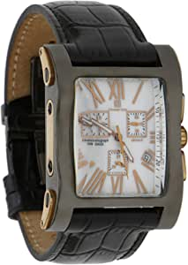 Christian Geen Analog Watch For Men - Leather , Black - 4841Glbr-Wh
