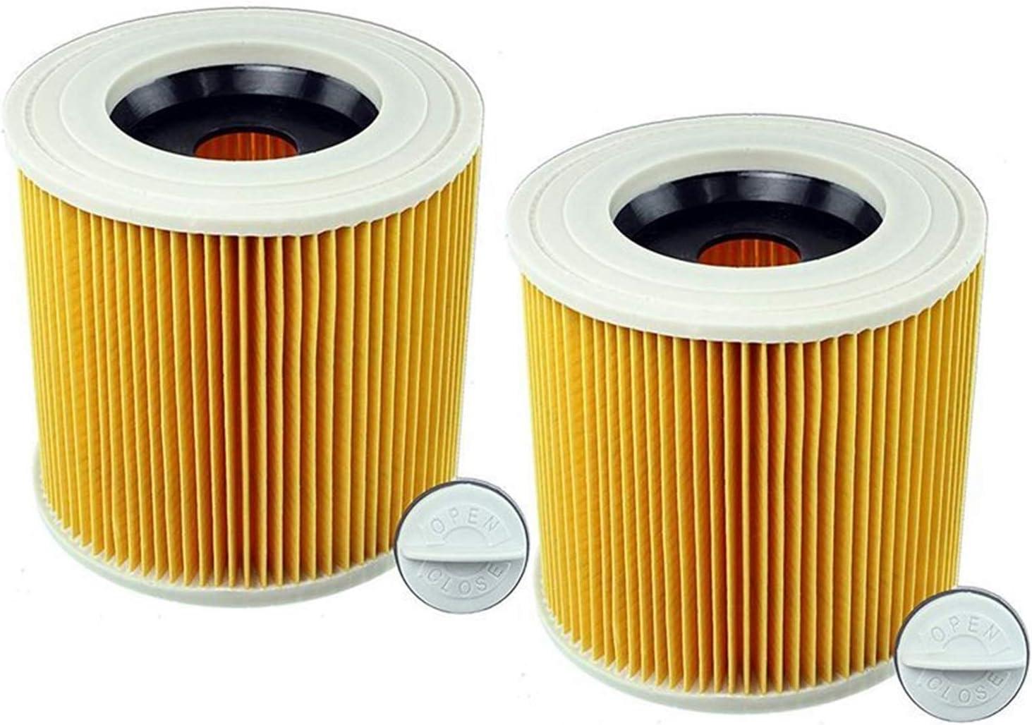 DONGYAO 교환 카트리지 필터는 적합한 카 처 WD2200WD2240A2200VC6200 습식 및 건식 진공 청소기(컬러로 표시)를 진공 청소기(컬러로 표시)