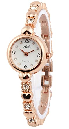 f0ae0d21d8d Buy Aelo Analogue Rose Gold White Round Dial Girls   Women s Watch ...