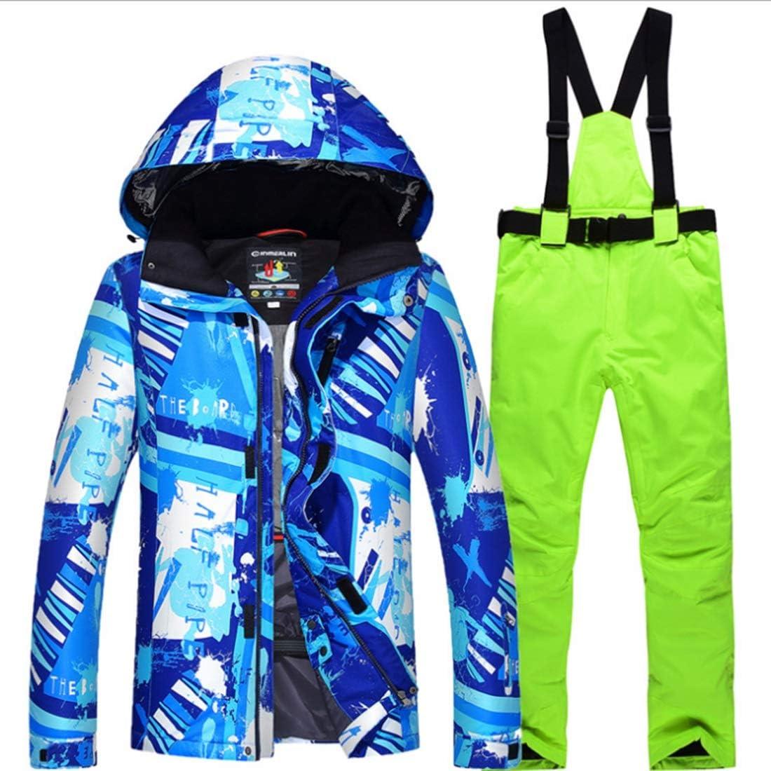 JIANYI 太いメンズ迷彩スキーパンツは防風防水暖かい冬コートレディーススノーボードジャケットスーツ (色 : 02, サイズ : L)  Large