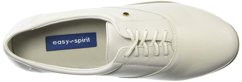 Easy Spirit Womens ESMOTION8 Oxford Flat White 9.5 M US