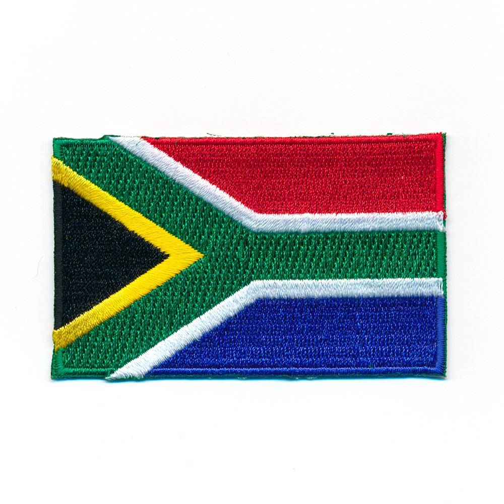 80 x 50 mm S/üdafrika Flagge Flag Pretoria Kapstadt Patch Aufn/äher Aufb/ügler 1016 X