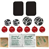 Wuteku UltraSlim Accessories Pack for Magnetic Cell Phone Holder | Includes 2 x Large Metal Plates | 2 x Large Metal Discs | 2 x Standard Metal Discs | 6 x 3M Mount Adhesives