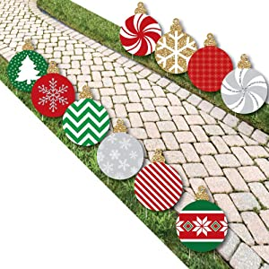 Big Dot of Happiness Ornaments Lawn Decorations - Outdoor Holiday and Christmas Yard Decorations - 10 Piece