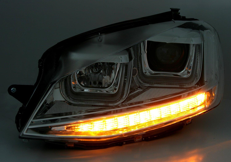 U Tubo di Luce di Marcia Diurna Eagle Eyes Faro Set con LED Indicatore di direzione
