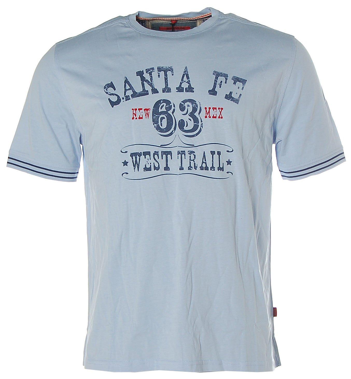 Signum Herren Kurzarm Shirt T-Shirt Rundhals Santa Fe West Trail Off White  L: Amazon.de: Bekleidung