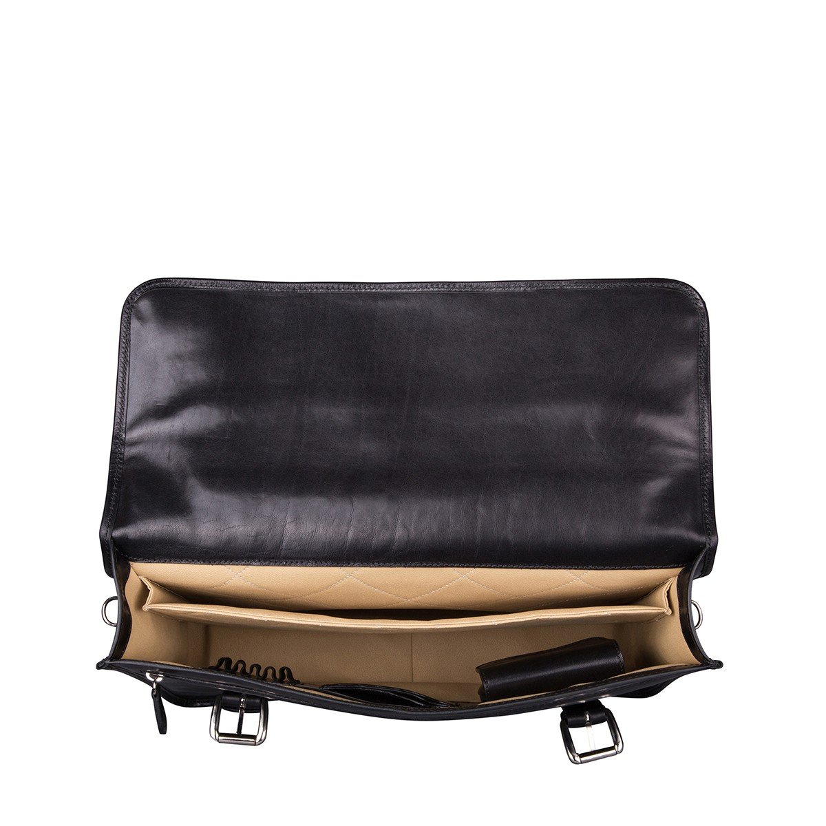 Maxwell Scott Mens Black Leather Backpack Briefcase (Micheli) by Maxwell Scott Bags (Image #5)